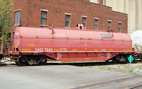 CAGY#7043 COIL STEEL GONDOLA COLUMBUS AND GREENVILLE SEVERCORR DESJLER,OHIO 4-4-12 WEDNESDAY
