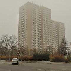 Mehrow-Marzahn, Berlin (J@ck!) Tags: berlin fog germany deutschland ddr trabant eastberlin towerblock hochhaus ostalgie socialhousing marzahn mehrow mehrowerallee