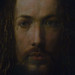 Dürer, Self-Portrait, detail of face