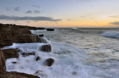 Portland (Mark A Jones (Andreas Jones Photography)) Tags: ocean england seascape storm sunrise portland landscape dawn nikon rocks waves cliffs coastal dorset weymouth portlandbill roughsea jurassiccoast leefilters d700