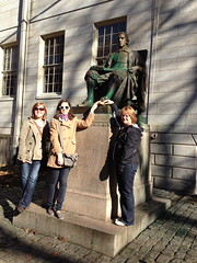 megan & co in boston (studio-s) Tags: statue boston massachusetts harvard haymarket bostoncommon macaroni northend oldnorthchurch harpoonbrewery publicgarden paulrevere johnharvard makewayforducklings bostonpublicgarden mikespastry