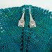 Art Deco Crystal Stitch Markers on Shawl