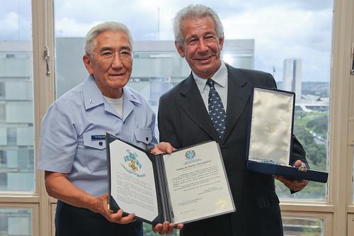 Recebimento medalha da Ordem do Mérito Aeronáutico