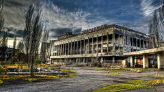0313 - Ukraine, Pripyat, Culture Centre Energetika HDR (Barry Mangham) Tags: building abandoned accident decay centre culture nuclear ukraine soviet stalker hdr decaying chernobyl urbex  pripyat  prypiat    energetika