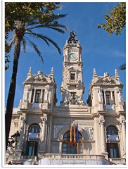 Valencia, Spanien - Plaza Ayuntamiento