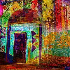 Doorway (brillianthues) Tags: city art philadelphia collage digital photography colorful vivid awardtree vividimagionation