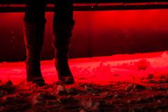 Boots in red (Hkan Dahlstrm) Tags: winter light red snow night se skne boots sweden cropped sverige f18 2012 helsingborg ef85mmf18usm skneln canoneos5dmarkii sek 7502122012173545
