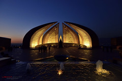 Islamabad Monument (Usman Hayat) Tags: blue pakistan light monument night photography nikon l