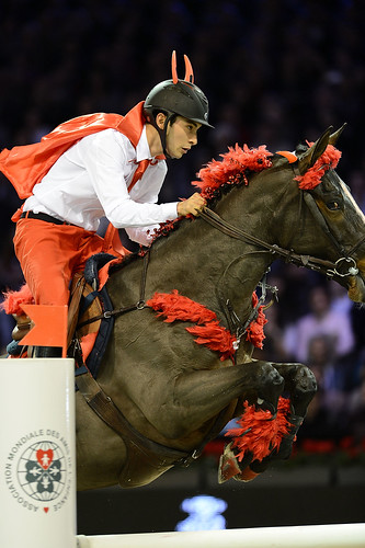 Alex rides as a guest in the Paris Masters 2012