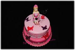Barbie Cake (Nuvole di Zucchero di Katia) Tags: birthday cake butterfly happy barbie compleanno torta sicilia decorazione farfalle pastadizucchero