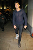 Leandro Penna with a cast on his right foot, leaving the 'Mahiki Coconut Christmas party' at Mahiki