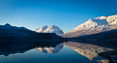 Liathach, Beinn Eighe Reflection - Loch Clair (Superali007) Tags: blue winter reflection canon landscape scotland highlands scenic torridon ecosse liathach rossshire beinneighe kinlochewe lochclair canon7d