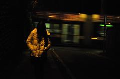 Alone (ThisIsRiich) Tags: nottingham motion contrast train dark nikon alone secret first uni amateur d90