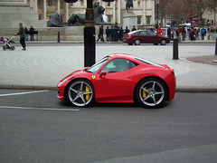 Ferrari 458 Italia Compact (kenjonbro) Tags: uk red england london westminster interesting italia trafalgarsquare ferrari squat explore adobe short photoshopcs custom coupe charingcross compact 2012 sw1 dct 458 supermini kenjonbro photoshop8 fujifilmfinepixhs10 wacombamboopen mx61dxl