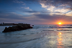 Sunset in the Strait (jaocana76) Tags: sunset beach atardecer playa cdiz tarifa atlantico loslances estrechodegibraltar straitsofgibraltar campodegibraltar playadeloslances canon1635 canoneos7d mygearandme mygearandmepremium mygearandmebronze mygearandmesilver jaocana76