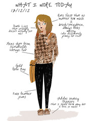 What I wore today 13/12/12 (Sophie Wainwright) Tags: fashion illustration outfit paint style illustrator whatiworetoday sophiewainwright swainwright