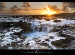 Pools of Mokolea Sunrise (explored) (Steph Sawyer Photography (will catch up slowly)) Tags: ocean sunrise hawaii maelstrom wildshoreline kilaueabay lavashelf poolsofmokolea stephsawyerphotography rockquarrybeac pointofmokilea sugingocean dontgohereinhighsurf