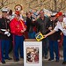 U.S. Marine Corps Reservists of Toys for Tots with Judy Jordan and John Jordan (center) at Sonoma wineries gondola toy drive challenge