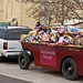 Alexander Valley wineries grape gondola toy drive donations being weighed