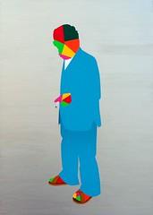 Genius gene. 92 x 65 cm. Acrylic on linen. 2012