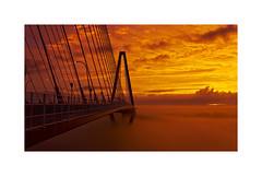 Ravenel Bridge Sunrise (Joe Franklin Photography) Tags: sunrise southcarolina charleston cooperriver mtpleasant ravenel ravenelbridge 100favs almostanything wwwjoefranklinphotographycom
