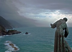 Stormy weather (IN2VISUAL) Tags: ocean travel light italy sculpture seascape europe mood emotion dream cinqueterre spiritual monterosso antiquated