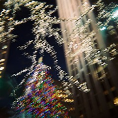 Rockefeller Center (Rust and Roses) Tags: nyc toycamera christmastree nightime holga120n bulbsetting mediumformatfilm