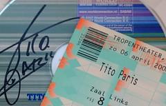 ...Access card... (cegefoto) Tags: musician amsterdam cards concert cd signature singer tamron 90mm hmm handtekening muzikant zanger accesscard titoparis macromondays