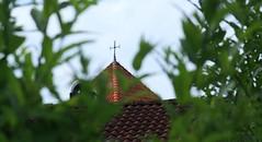 A glimpse of faith (blondinrikard) Tags: göteborg summer july 2016 sweden gothenburg sverige roof tower church churchtower cross kors kyrktorn kyrka styrsö