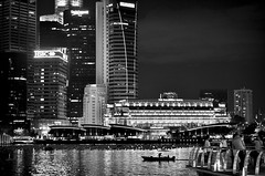 SG (gnivmcelada) Tags: singapore sg marinabaysands travel photography travelphotography blackandwhite monochrome citylights nikon d7000