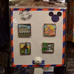 Disneyland Visit - 2016-08-28 - Downtown Disney - World of Disney - Pin Trading - Disneyland Attractions Booster Pack (drj1828) Tags: us disneyland dlr 2016 visit downtowndisney dtd pin booster pack attraction disneypintrading
