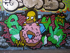 simpson (codedtestament777) Tags: simpson donut graffiti art beautiful love life design surreal text bright sign painting writing nature crazy weird fabulous environment cartoon animation outdoor street photo border photoborder illustration collection portrait face expression character