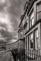 Curving (duncan_mclean) Tags: curved building monochrome street architecture blackandwhite mono sepia bw edinburgh sandstone crescent