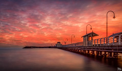 St Kilda Pier at Sunset (mark.iommi) Tags: stkildapier sunset stkilda australia redsky seaside melbourne abigfave redmatrix