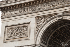Triomphe (alewomon) Tags: europa europe france francia paris eiffel tower arcdetriomphe sena minimalism conceptual