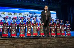 Traditional Costumes (oz_lightning) Tags: asia china huzhutuautonomouscounty people qinghai sonyrx100iii weiyuantown concert culture interior weiyuanzhen chn