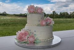 Peony Cake (hey its k) Tags: cakes nicoleanddevanswedding neustadt ontario canada ca img5022e wedding cake peony flowers buttercream gumpaste
