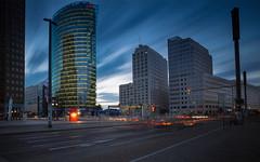 Berlin Potsdamer Platz (erkan.oeztuerk) Tags: sonne sony 1018mm langzeitbelichtung ndfilter architektur weitwinkel wolken berlin deutschland art germany gebude