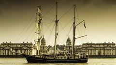 _MG_9051 THALASSA & THE OLD ROYAL NAVY COLLEGE (lee.45) Tags: london england unitedkingdom gb sailroyalgreenwich tallships thames historicships historic riverthames river sails thalassa theoldroyalnavycollege
