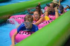 Smiles coming through! (radargeek) Tags: slidethecity oklahomacity oklahoma waterslide splash smile