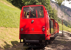 Swiss (BRB) Brienz-Rothorn Bahn 800mm gauge Class Hm 2/2 rack diesel loco No. 11 at Planalp on 11 Aug 2016 (A Scotson) Tags: rackandpinion rackrailway cograilway steck mtu brienz rothorn brienzrothornbahn brb swiss diesel 800mmgauge narrowgauge mountains locomotive train