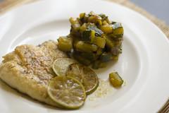 Lime & ginger turbot (Luca Nebuloni) Tags: food cibo mangiaconme turbot rombo pesce lime ginger zenzero