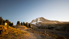 Morning Sunrise At Mt. Hood (daynawines) Tags: mountain sunrise trees rocks road outdoor landscape hill mountainside