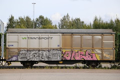 Fr8z (Thomas_Chrome) Tags: graffiti streetart street art spray can moving target object freight train vr cargo suomi finland europe nordic rolling illegal vandalism chrome
