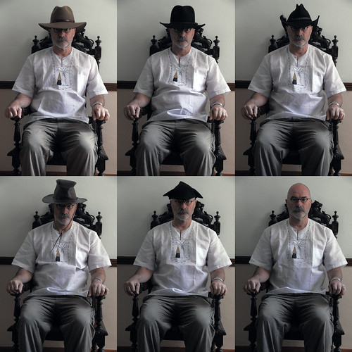 portrait selfportrait man hat chair seated indigenous selfie hexaptych ourdailychallenge yeahiknowimadethatup
