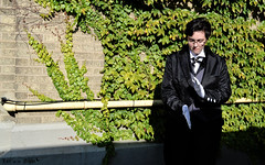 Claude Faustus 3 (Lux of the Night) Tags: black anime night photography cosplay butler syracuse claude lux 2012 faustus cosplaying kuroshitsuji