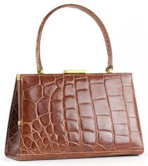 L21. Caramel Colored Alligator Purse, France