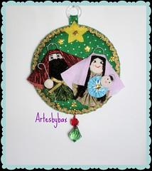 Enfeite de porta - Sagrada Família (artesbybax - Carmen) Tags: natal fuxico feltro tecido sagradafamília enfeitedeporta enfeitenatalino