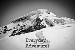 Climbing Mount Baker (Every Day Adventures) Tags: light sun snow man mountains ice nature outdoors unitedstates tent hike glacier alpine backpacking summit wa mountbaker cascademountainrange threepeople mountainering