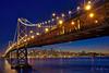 "October Orange (Willie Huang Photo) Tags: sf sanfrancisco california city longexposure night landscape cityscape scenic baybridge bayarea giants bluehour worldseries ""skyline"""